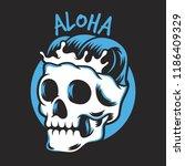 skull head vector design with... | Shutterstock .eps vector #1186409329