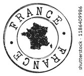 France Stamp Silhouette Map....