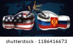 realistic boxing gloves with... | Shutterstock .eps vector #1186416673