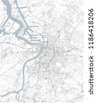 map of antwerp  satellite view  ... | Shutterstock .eps vector #1186418206