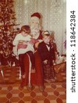 Vintage Photo Of Santa Claus...