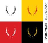 wheat sign illustration. spike. ... | Shutterstock .eps vector #1186430920