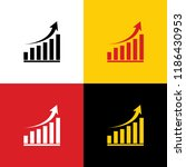 growing graph sign. vector.... | Shutterstock .eps vector #1186430953