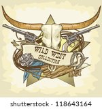 wild west design | Shutterstock .eps vector #118643164