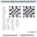 american style crossword puzzle ... | Shutterstock .eps vector #1186433413