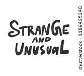 strange and unusual. sticker...   Shutterstock .eps vector #1186435240