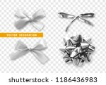 bows silver realistic design.... | Shutterstock .eps vector #1186436983