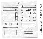 hand drawn vector form elements ... | Shutterstock .eps vector #118643764