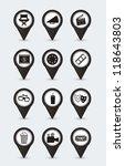 cinema icons over white...   Shutterstock .eps vector #118643803