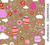 seamless pattern with easter... | Shutterstock .eps vector #1186440616