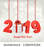 2019 new years background with... | Shutterstock .eps vector #1186442266