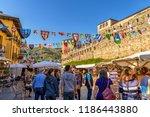 ponferrada  spain. circa... | Shutterstock . vector #1186443880