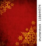 Christmas Red Background With...