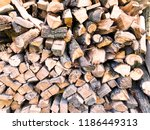 chopped firewood combined to... | Shutterstock . vector #1186449313