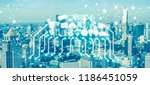 internet of things iot | Shutterstock . vector #1186451059
