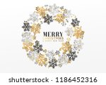 merry christmas and happy new... | Shutterstock .eps vector #1186452316