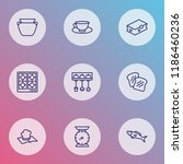 gastronomy icons line style set ... | Shutterstock .eps vector #1186460236
