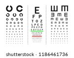tests for visual acuity.... | Shutterstock .eps vector #1186461736