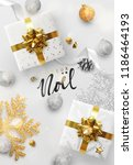 french text joyeux noel.... | Shutterstock .eps vector #1186464193