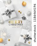 christmas vector background.... | Shutterstock .eps vector #1186464196