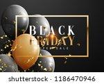 black friday  sale banner... | Shutterstock .eps vector #1186470946