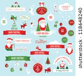 christmas decoration collection | Shutterstock .eps vector #118648240