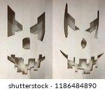 cubic pattern illustration of... | Shutterstock . vector #1186484890