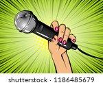 woman pop art style fashion.... | Shutterstock .eps vector #1186485679