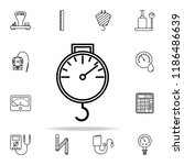 luggage scales icon. measuring... | Shutterstock .eps vector #1186486639