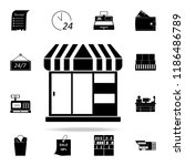 kiosk shop icon. market icons... | Shutterstock .eps vector #1186486789