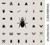 stag beetle icon. insect icons... | Shutterstock .eps vector #1186488466