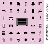 dresser icon. furniture icons... | Shutterstock .eps vector #1186489720