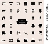 sofa icon. furniture icons... | Shutterstock .eps vector #1186489813