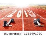 2019 new year celebration... | Shutterstock . vector #1186491730