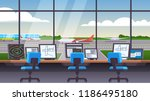 airport traffic control tower... | Shutterstock .eps vector #1186495180