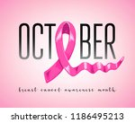 symbol of breast cancer... | Shutterstock .eps vector #1186495213