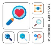 zoom icon set. loupe focus...   Shutterstock .eps vector #1186497253