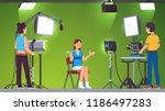 television presenter  cameraman ... | Shutterstock .eps vector #1186497283