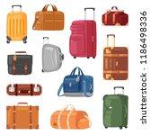 travel bag vector luggage... | Shutterstock .eps vector #1186498336