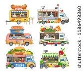food truck vector street food... | Shutterstock .eps vector #1186498360