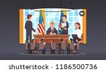 government officials boardroom... | Shutterstock .eps vector #1186500736