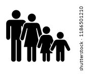 family icon vector. | Shutterstock .eps vector #1186501210