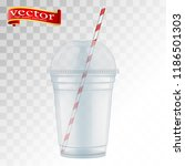 clear plastic cup with sphere... | Shutterstock .eps vector #1186501303
