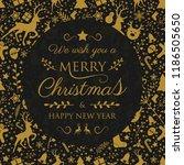 design of christmas greeting...   Shutterstock .eps vector #1186505650