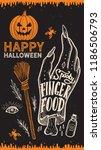 halloween invitation with... | Shutterstock .eps vector #1186506793