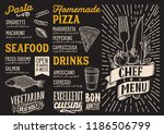 chef menu template for... | Shutterstock .eps vector #1186506799