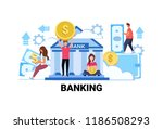 people holding money banking... | Shutterstock .eps vector #1186508293