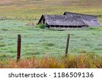 rural landscape with collapsed... | Shutterstock . vector #1186509136