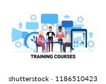 mix race people studying online ... | Shutterstock .eps vector #1186510423