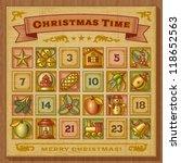 vintage christmas advent...   Shutterstock .eps vector #118652563